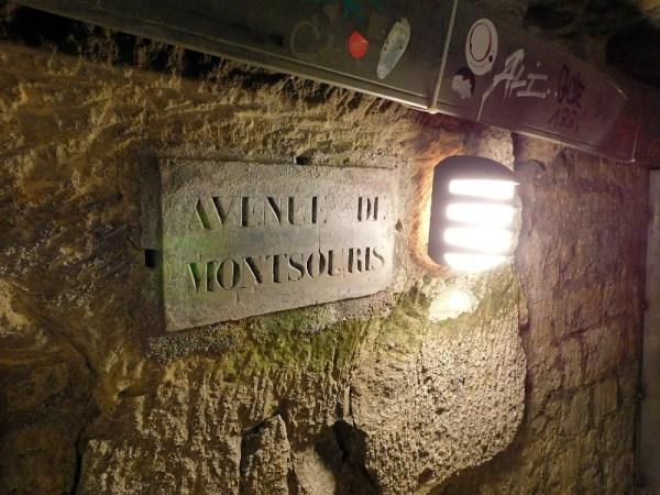 Paris Catacombs Avenue