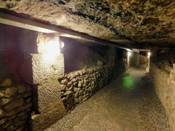 Paris Catacombs Walkway