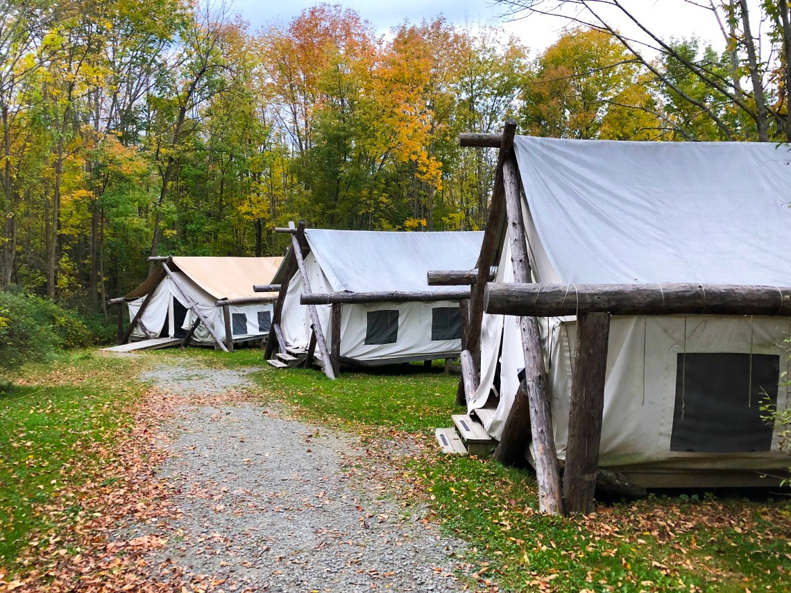 Glamping in Ithaca - Firelight Camps Tents