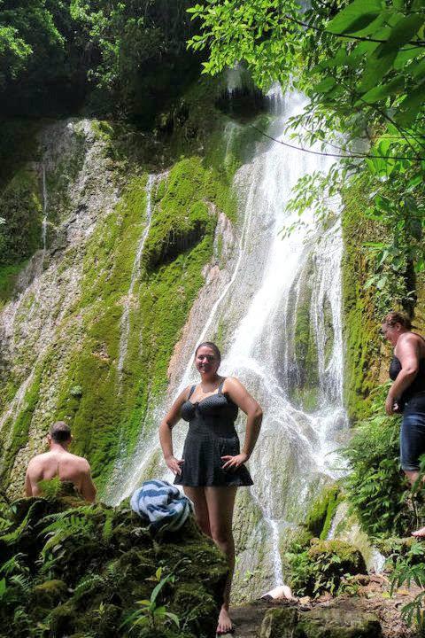 Dani at Vanuatu Waterfall