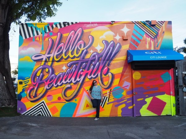 Hello Beautiful Mural Wynwood