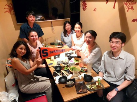 Dani with Japanese Students