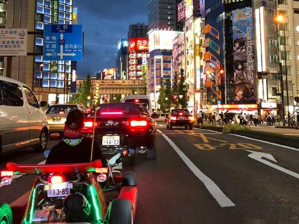 Go Karting in Tokyo at Night