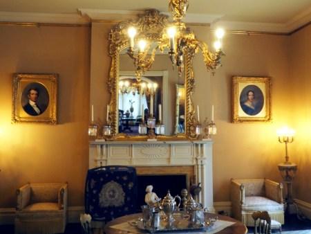 Seward House Parlor - Photos of William Seward and Frances Seward