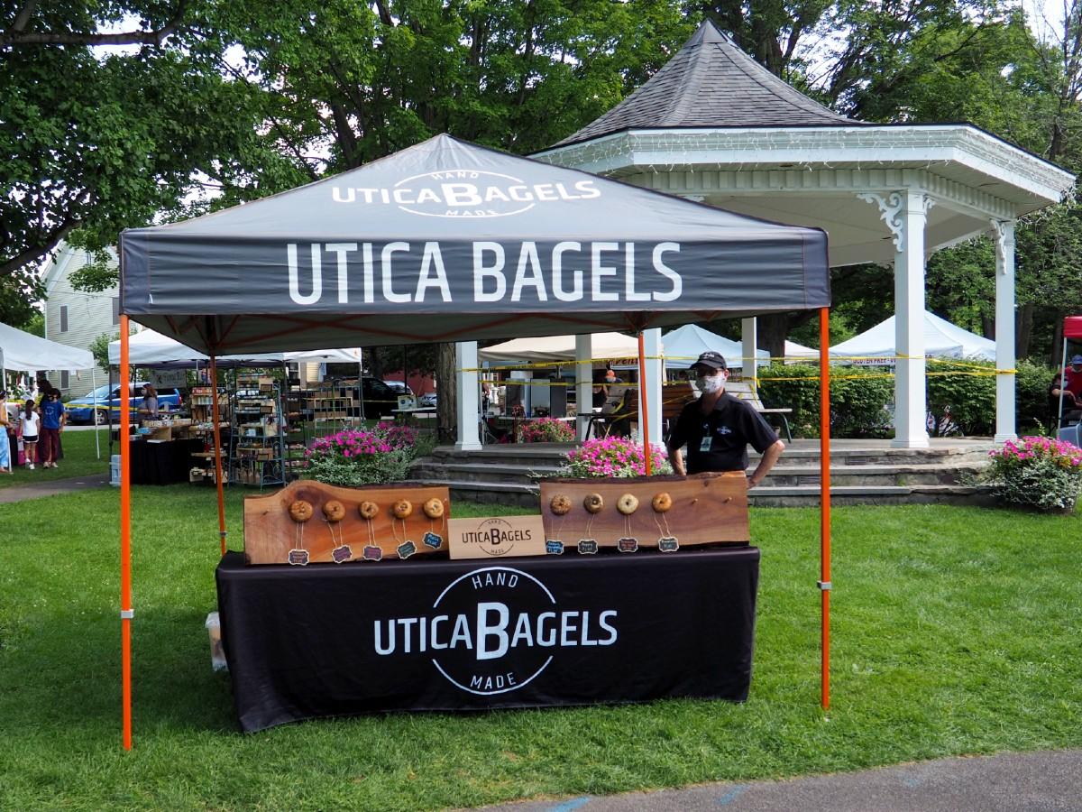 Utica Bagels at Clinton Farmers Market