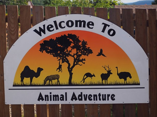 Animal Adventure Sign