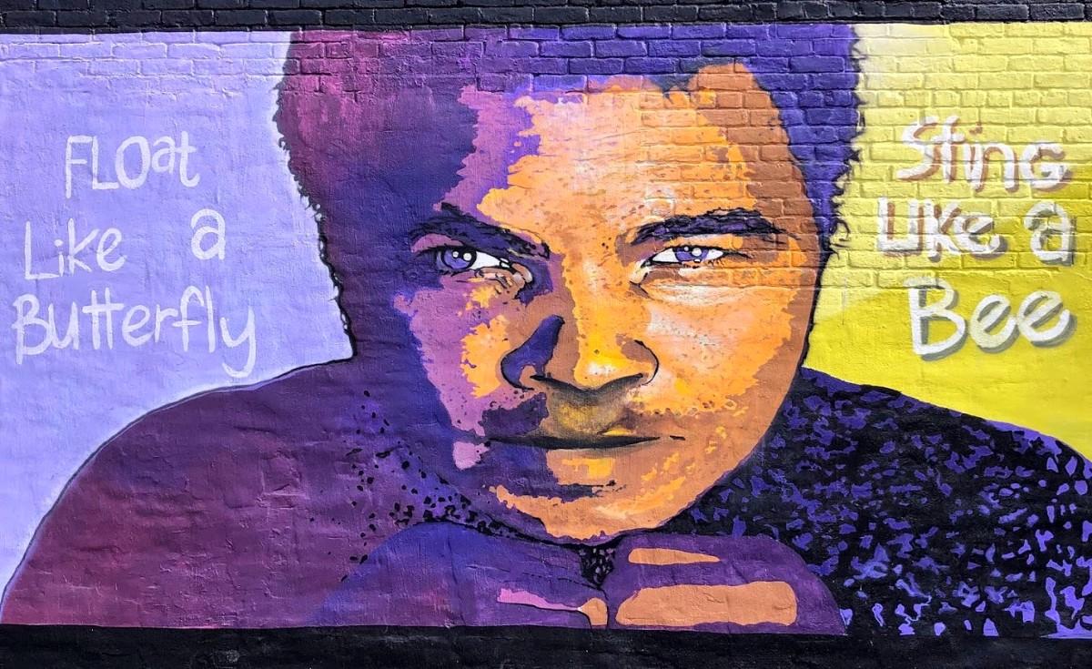 Muhammad Ali Mural in Binghamton