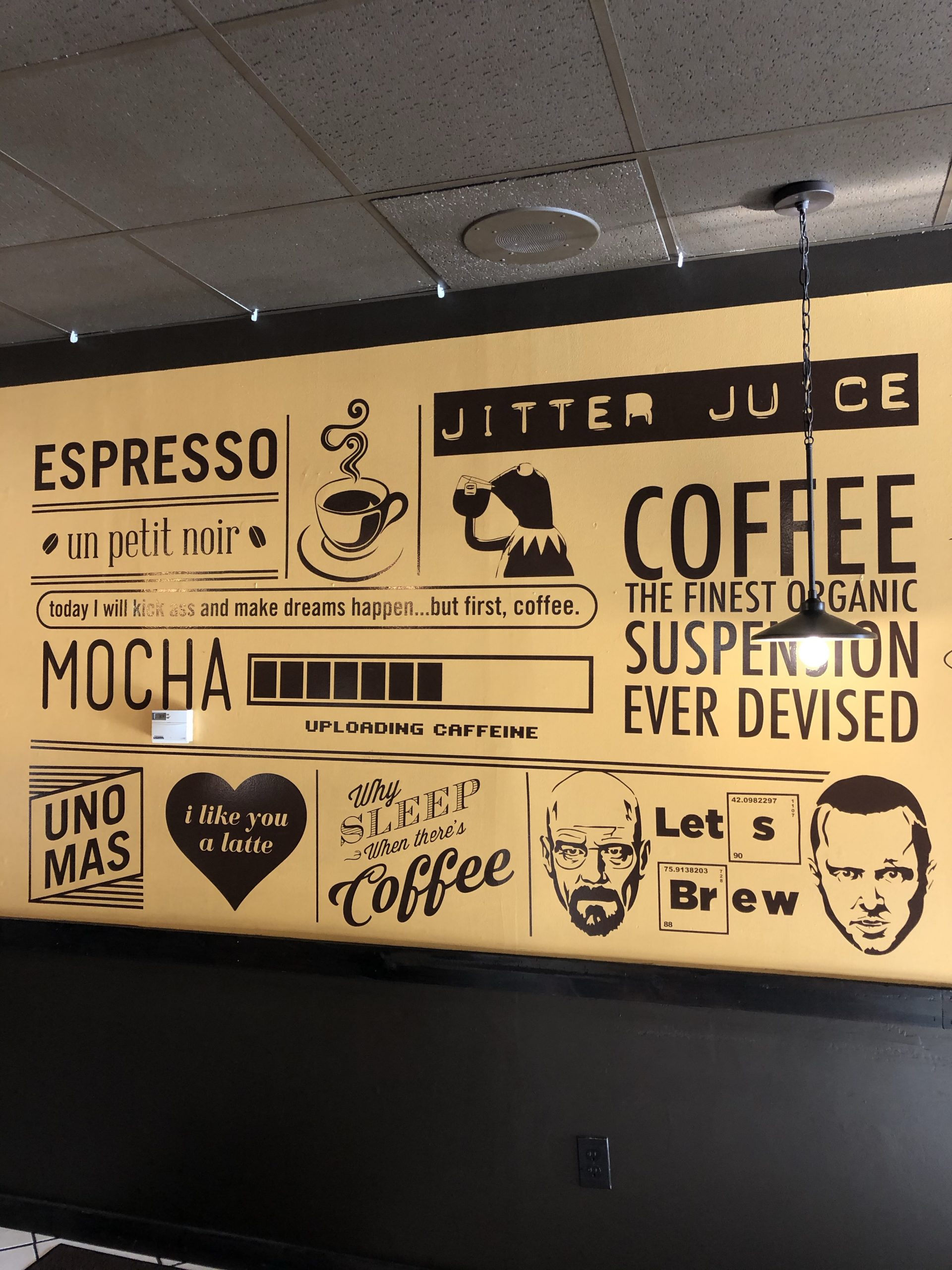 Strange Brew Coffee Mural 1