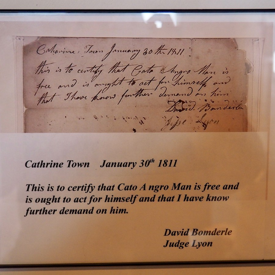 Note Freeing a Slave in New York