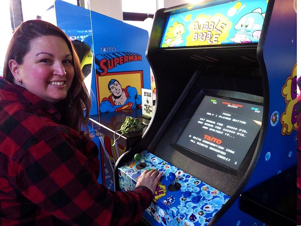 Dani at Three Lives Arcade Bar in Syracuse