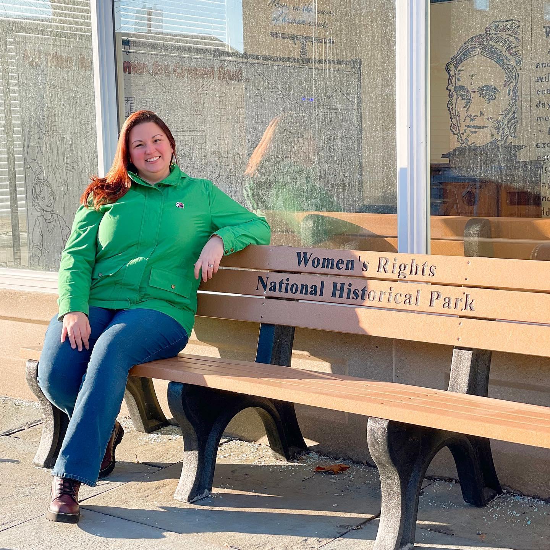 Dani at Womens Rights National Historical Park in Seneca Falls