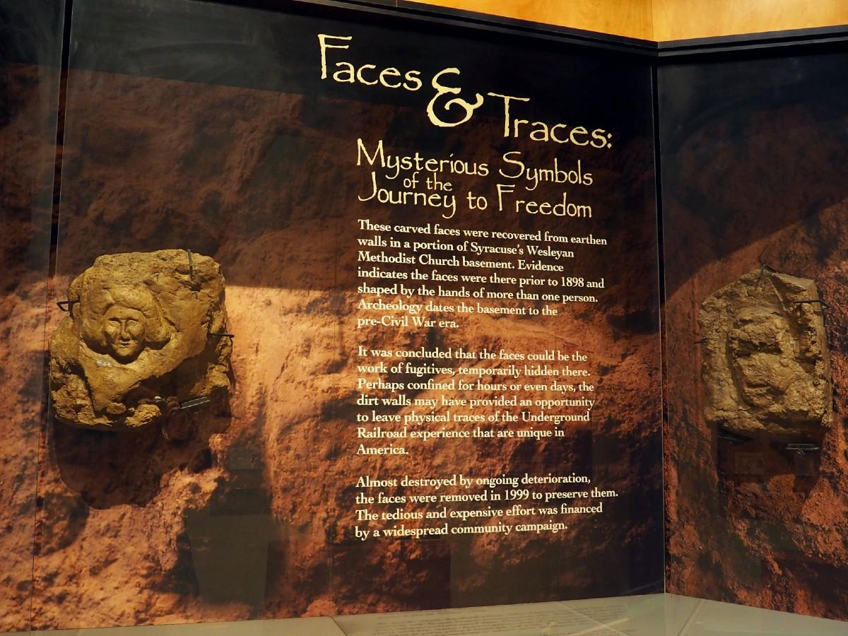 Syracuse Underground Railroad Carvings