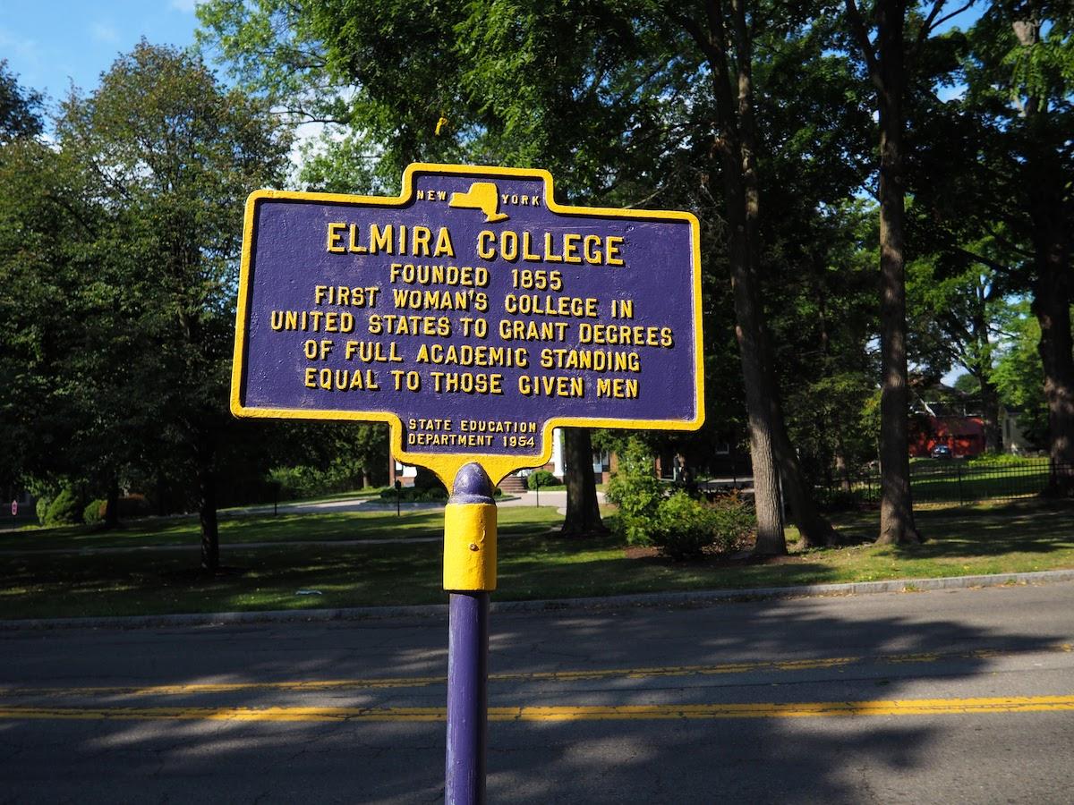 Elmira College Sign