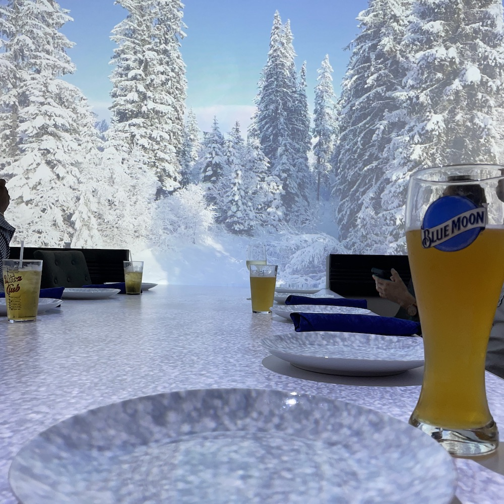 Virtual Dinner Snow Scene