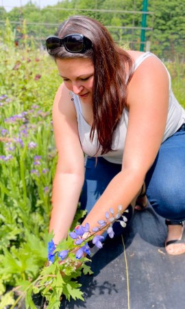 Dani Picking Flowers
