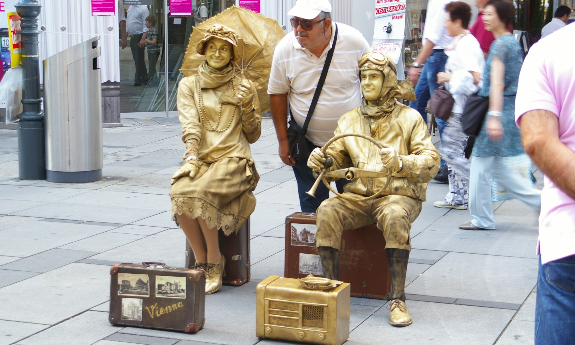 Street artists in Vienna