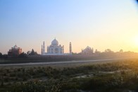 Christmas Day. Watching the Taj by sunset from Mehtab Bagh