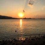 【台湾】淡水で夕陽と芋圓