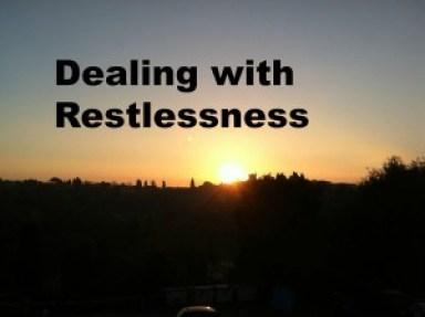 Dealing Restlessness Travel