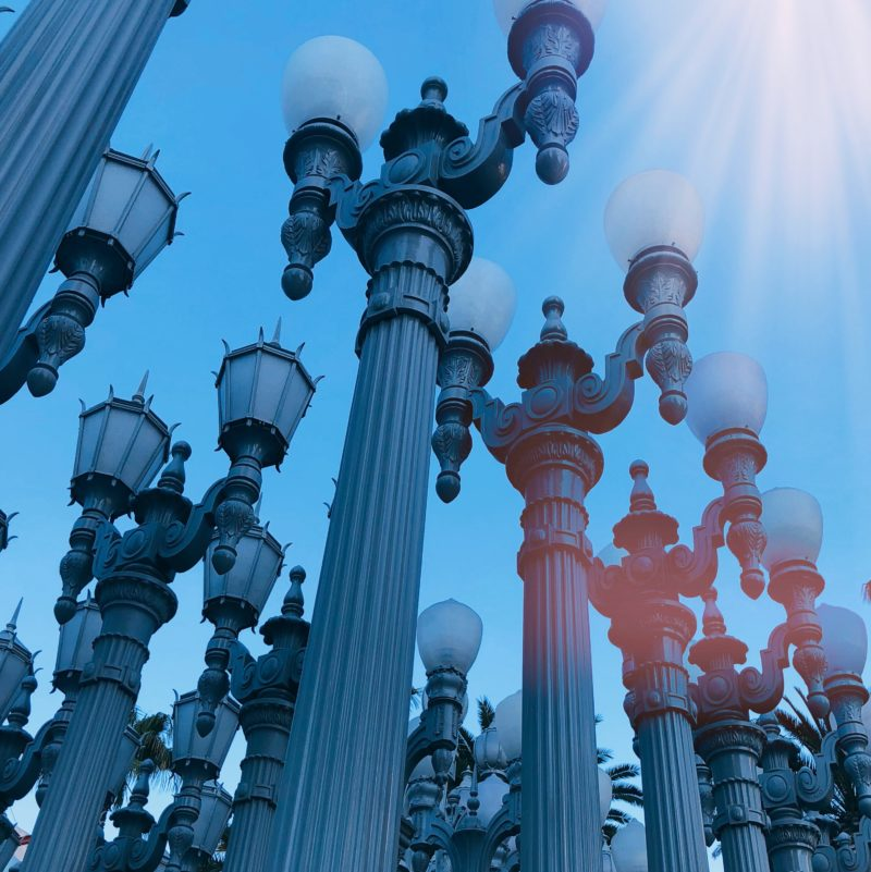 Sunday Snapshot - Urban Light, LACMA, Los Angeles....