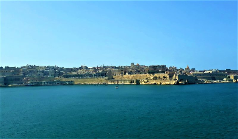 The view from Esplora Science Museum across the water to Valletta