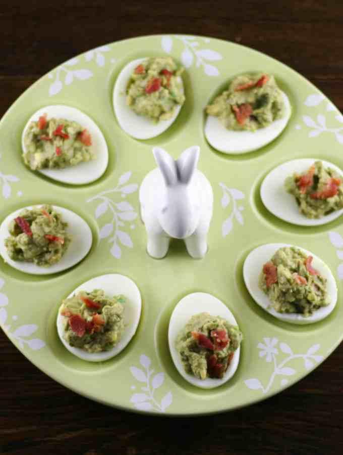 Bacon Avocado Deviled Eggs
