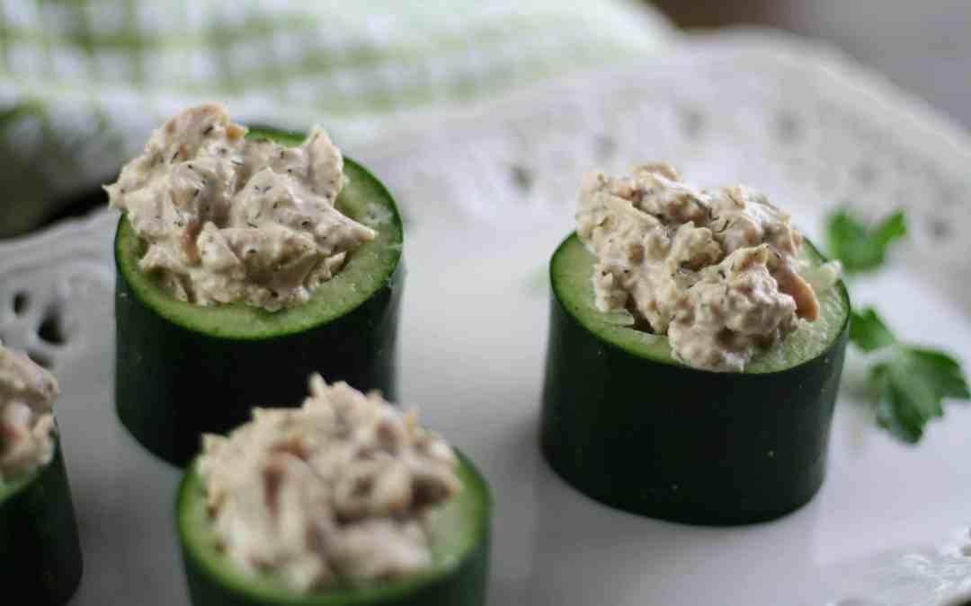 Cucumber Tuna Cups