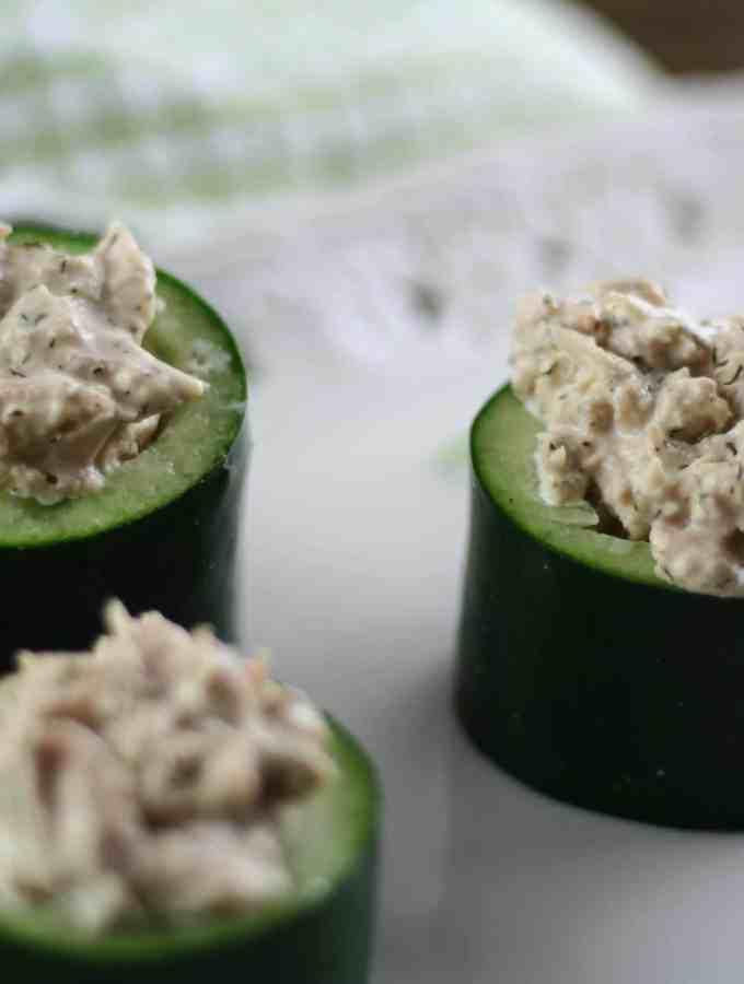 Cucumber Tuna Cups 3