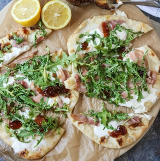 Prosciutto Burrata Pizza with Fig Jam