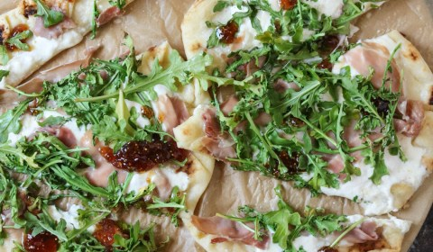 Prosciutto Burrata Pizza with Fig Jam