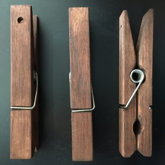 giant wooden pegs