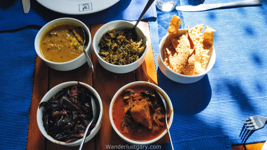 Curries and papad