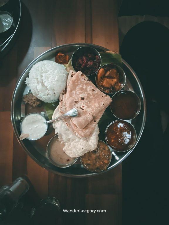 Traditional Vegetarian Thali in Hampi - Wanderlustgary.com