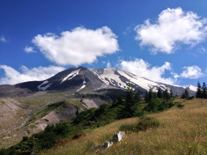 Mt St Helens from Loowit Trail.