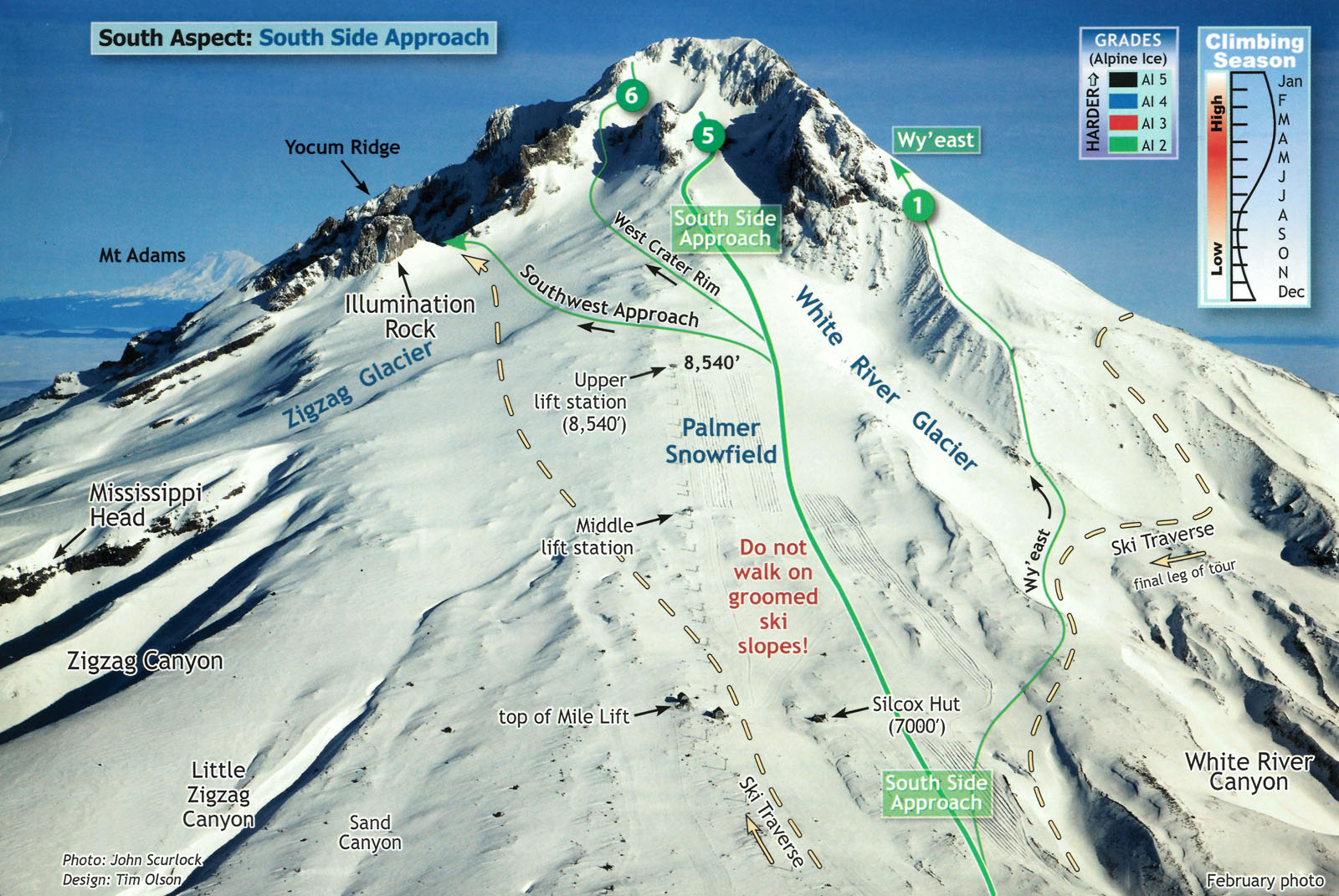 Image credit: Mt Hood Climber's Guide by Bill Mullee