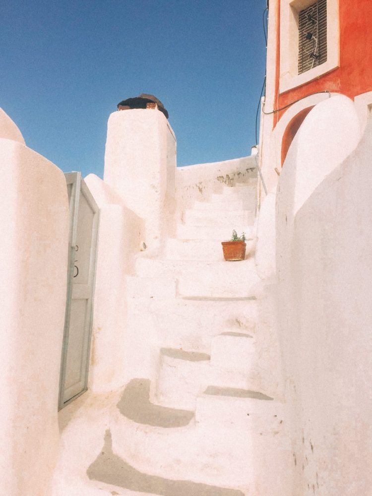 A cute little corner near the steps to our accomodations in Oia Greece
