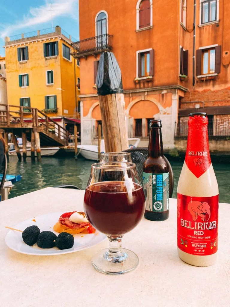 Craft Beers by a Venice Canal