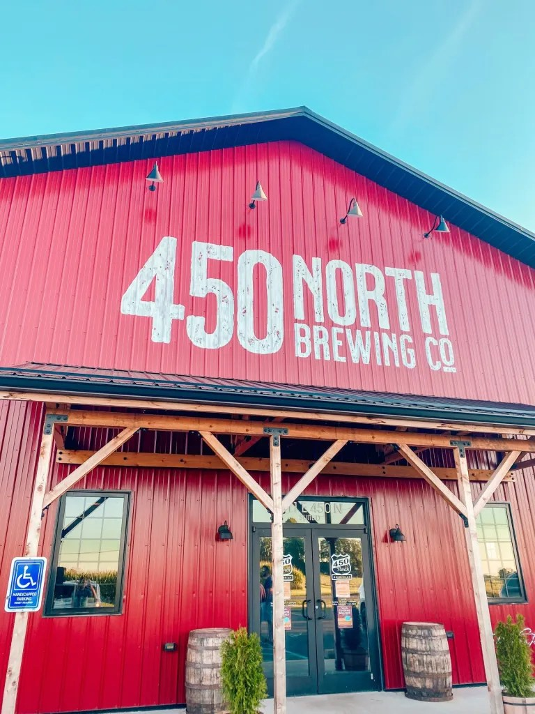 The front of the 450N brewery in Columbus Indiana