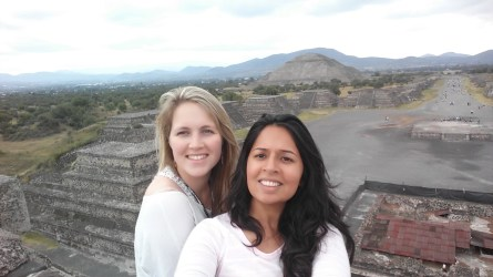 And then you meet other cool lone female travelers on your way to Teotihuacan - this one's from Germany and we talked up a storm!