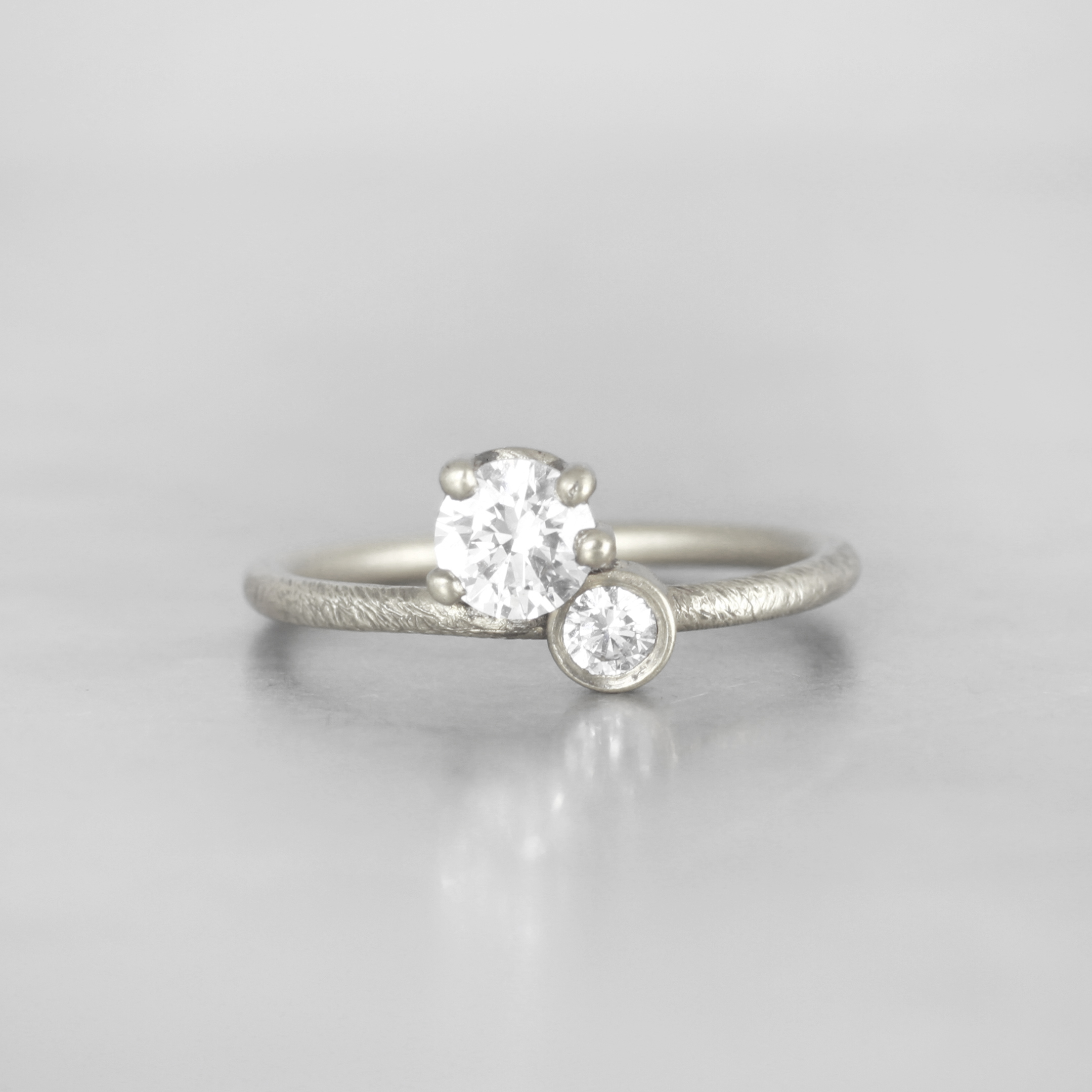 white in diamond wosozar rings engagement wedding two promise stone gold beautiful or ring