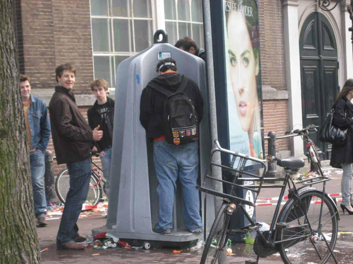 Amsterdam's Outdoor Urinals