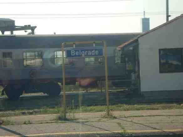 Belgrade Train Station. American in Belgrade