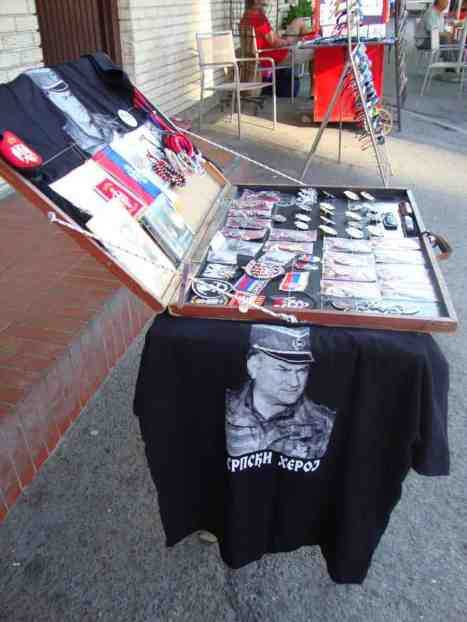 Right out the front of the train station a merchant was selling Ratko Mladić t-shirts- who had just been apprehended by the tribunal in The Hague for war crimes. American in Belgrade