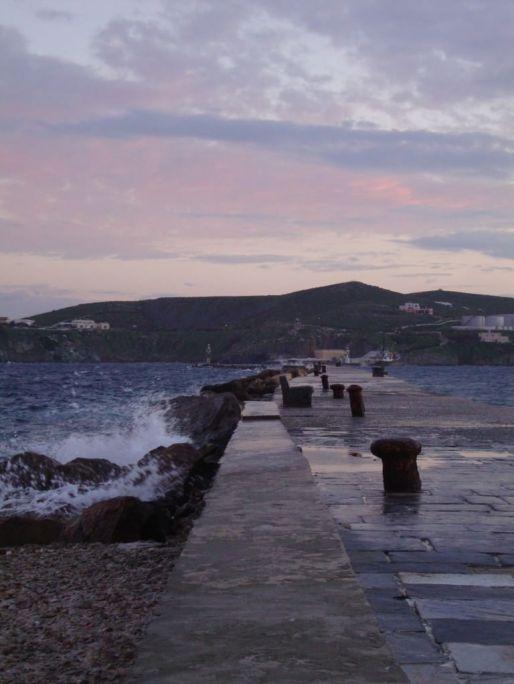 Shore of Syros, best greek cyclades island