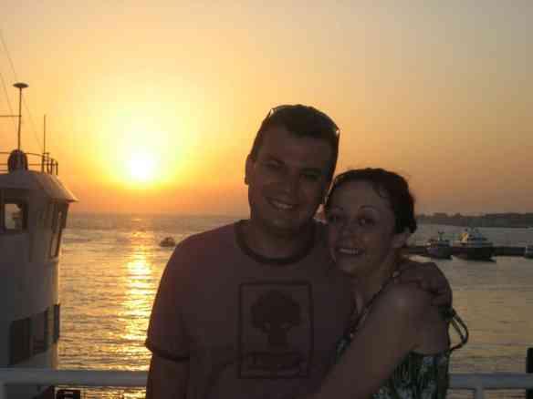 Sunset in beautiful Zadar, Croatia, saving money to travel
