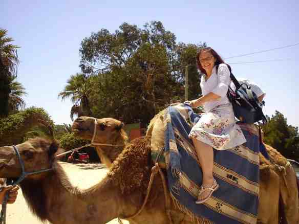 Bell riding a camel, fun times, Day trip to Tangier