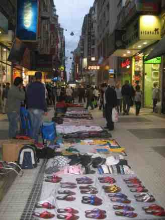 merchants on Avenue de Florida in Buenos Aires