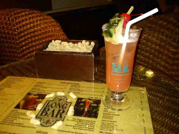 The original Singapore Sling Crazy Singapore.
