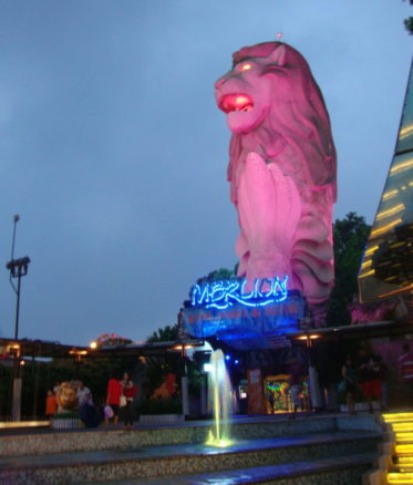 Singapore Merlion beach in singapore