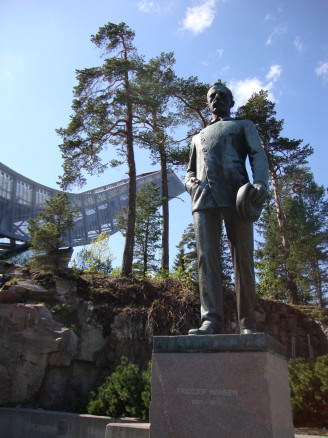 Holmenkollen ski jumping venue in Oslo